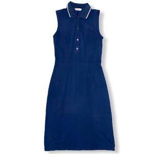 Prada Sport Dress with Polo Collar Navy Blue